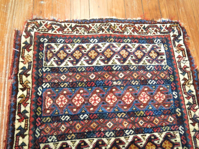 Tribal 19th Century Persian Bagface Textile Rug For Sale