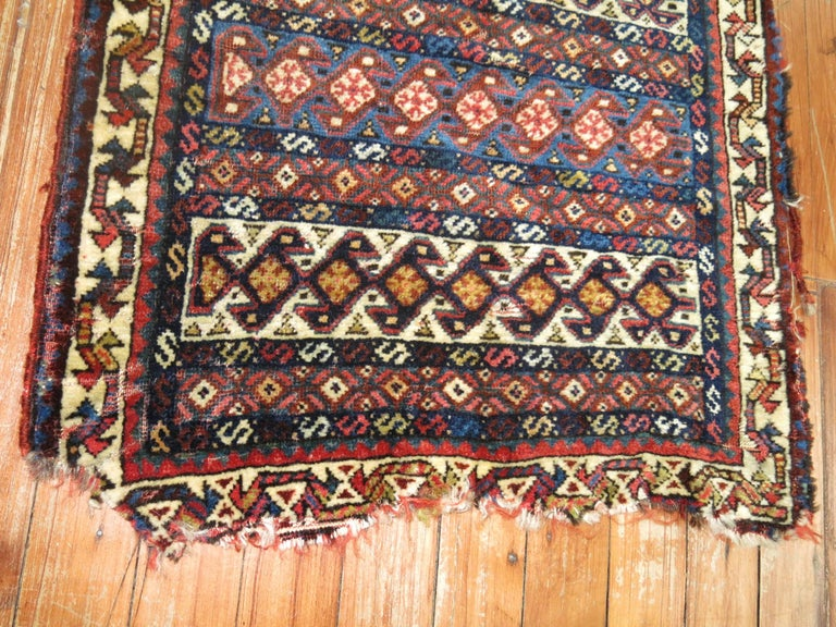 Hand-Woven 19th Century Persian Bagface Textile Rug For Sale