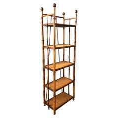19TH Century Petite Bamboo Etagere / Bookstand