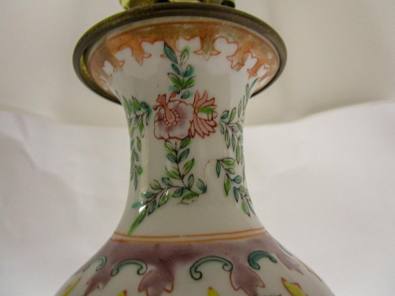 Late 19th Century 19th Century Petite Chinese Export Table Lamp For Sale