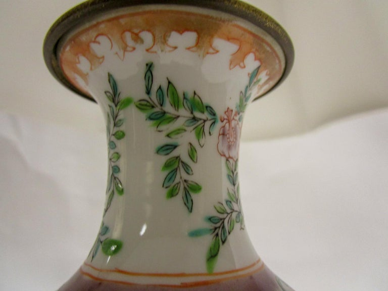 Brass 19th Century Petite Chinese Export Table Lamp For Sale