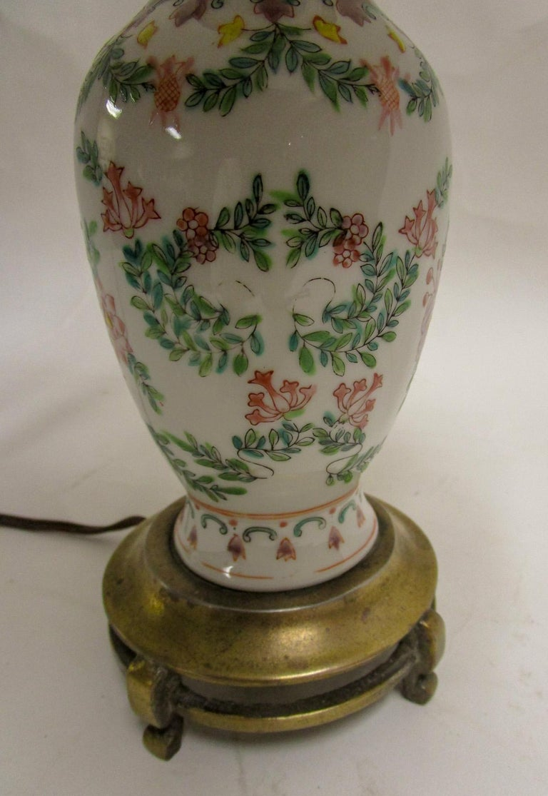 19th Century Petite Chinese Export Table Lamp For Sale 1