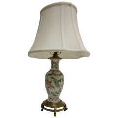 19th Century Petite Chinese Export Table Lamp