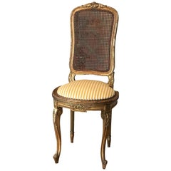 19th Century Petite French Ballroom Side Chair, in Louis XVI Style