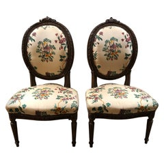 19th Century Petite French Fireside Chairs