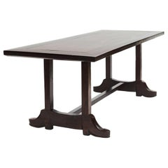 """19th Century Philippine Baroque Style """"Shoe Table"""" in Narra Hardwood"""