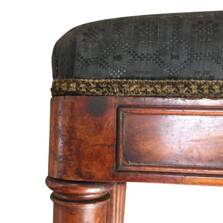 Mahogany 19th Century Piano Stool, Denmark For Sale