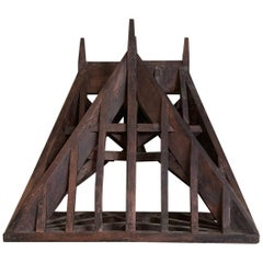 19th Century, Piece De Maitrise, Architectural Model Roof, Double Angled