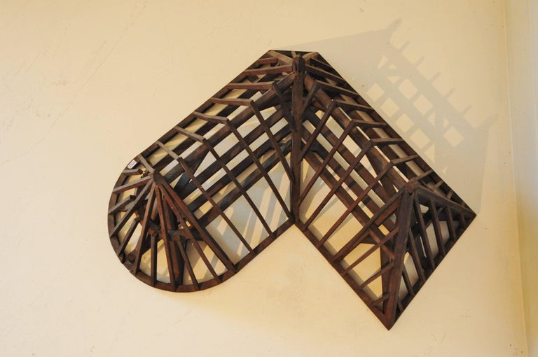 French 19th Century, Piece de Maitrise, Architectural Model Roof Square and Round For Sale