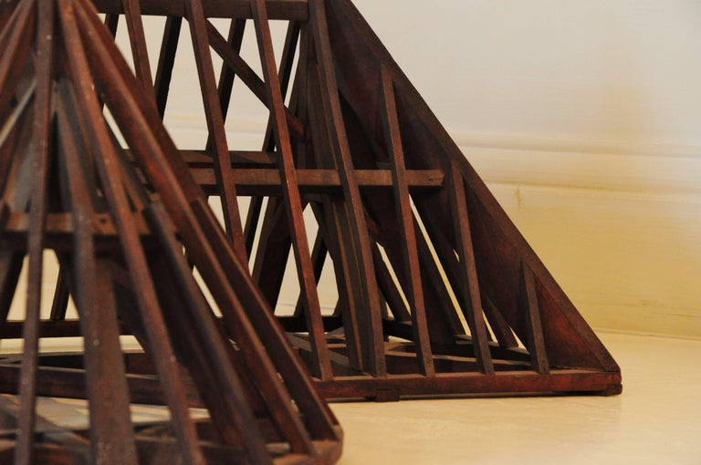 19th Century, Piece de Maitrise, Architectural Model Roof Square and Round In Good Condition For Sale In Vosselaar, BE