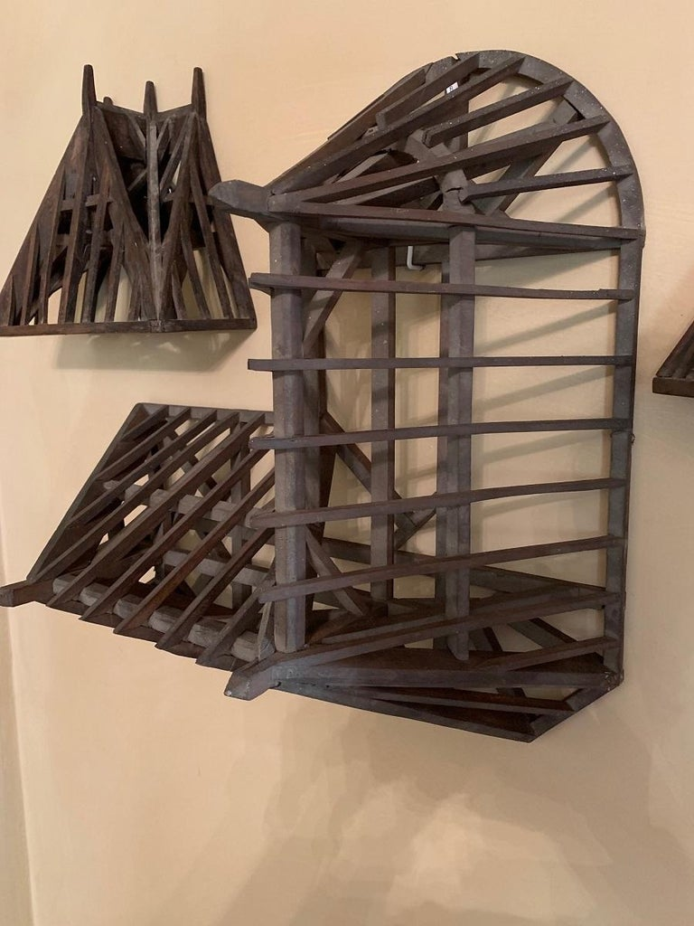 19th Century, Piece de Maitrise, Architectural Model Roof Square and Round For Sale 2