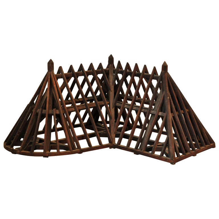 19th Century, Piece de Maitrise, Architectural Model Roof Square and Round For Sale