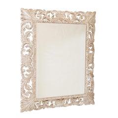 19th Century Pierced Italian Foliate Mirror