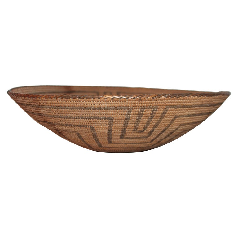 19th Century Pima Indian Large Basket For Sale