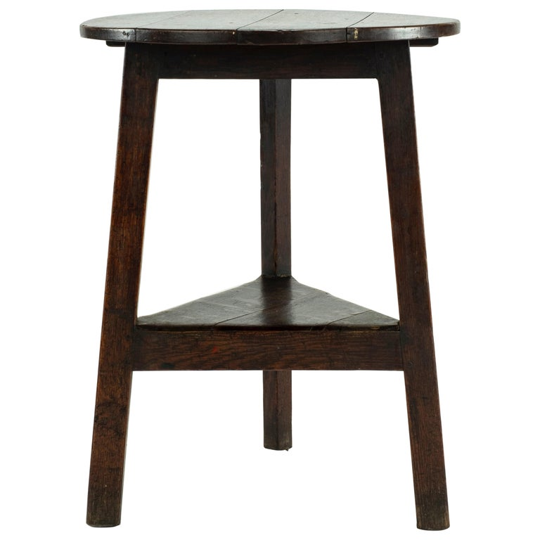 19th Century Pine Cricket Table For Sale