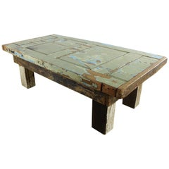 19th Century Pine Door Wooden Coffee Table