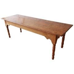 19th Century Pine Harvest Farm Table