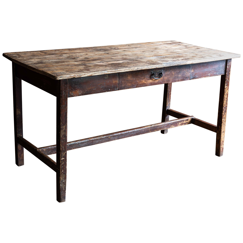 19th Century Pine Lancashire Mill Table