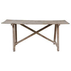 19th Century Pinewood Spanish Console or Table