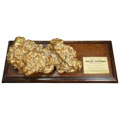 "19th Century Plaster Museum Piece ""Welcome"" Gold Nugget Model Victoria Australia"