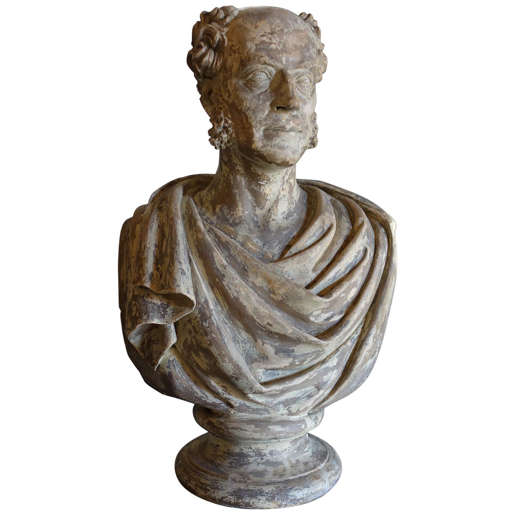 19th Century Plaster Sculpture Bust of John Michael Shum