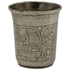 19th Century Polish Silver Kiddush Cup