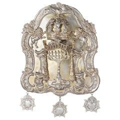 19th Century Polish Silver Torah Shield