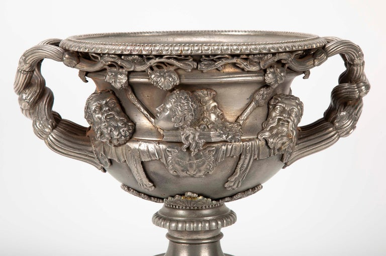19th Century Polished Steel Warwick Vase For Sale 7