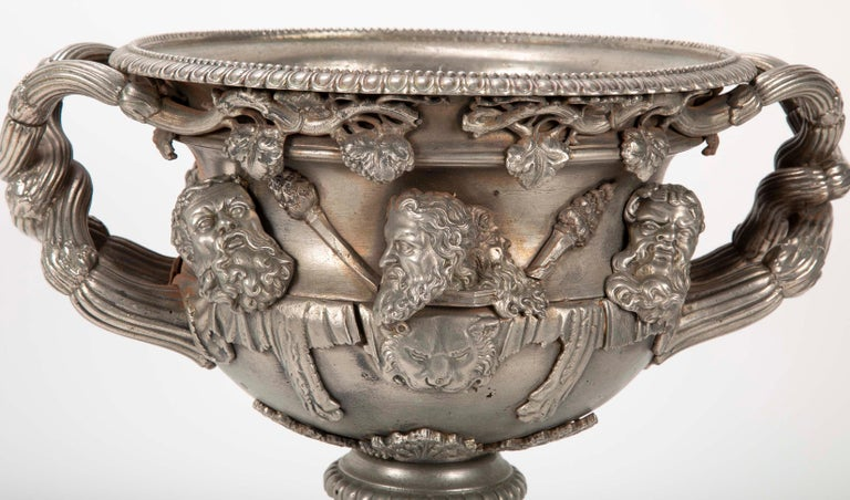 19th Century Polished Steel Warwick Vase In Good Condition For Sale In Stamford, CT