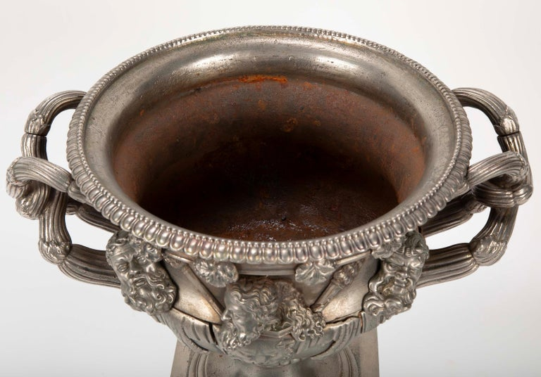 19th Century Polished Steel Warwick Vase For Sale 1