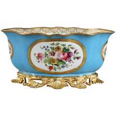 19th Century Porcelain and Ormolu Jardinière