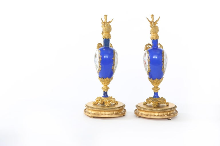 Early 19th Century 19th Century Porcelain or Gilt Bronze Three-Piece Garniture For Sale