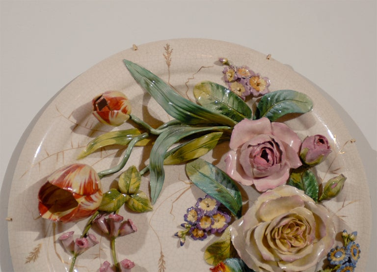 French 19th Century Porcelain Plate For Sale