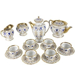 19th Century Porcelain Tea and Coffee Service for Six by K.P.M