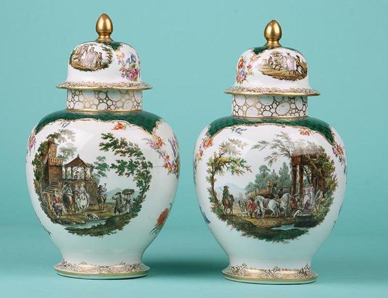 19th Century Porcelain Vases by Helena Wolfsohn, Dresden For Sale 7