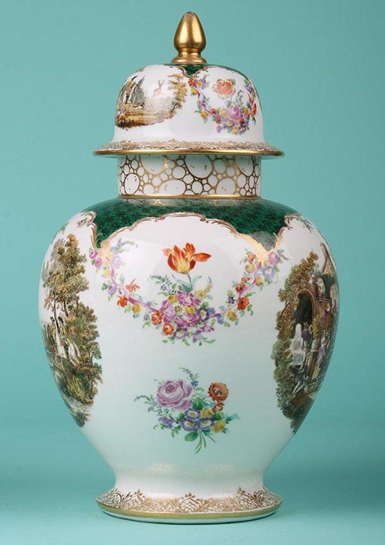19th Century Porcelain Vases by Helena Wolfsohn, Dresden For Sale 1