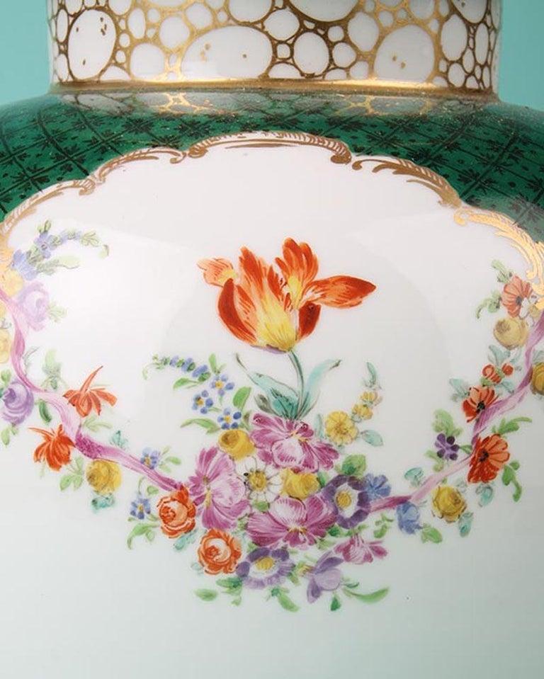 19th Century Porcelain Vases by Helena Wolfsohn, Dresden For Sale 2