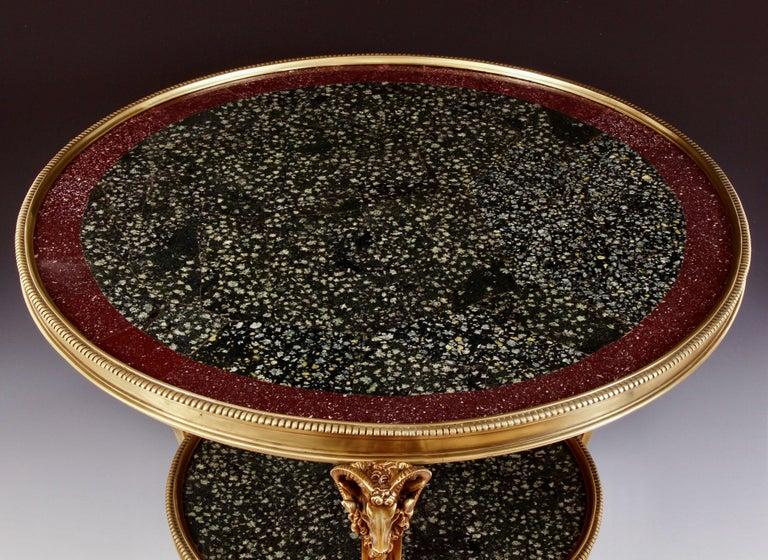 Greco Roman 19th Century Porphyry Table For Sale