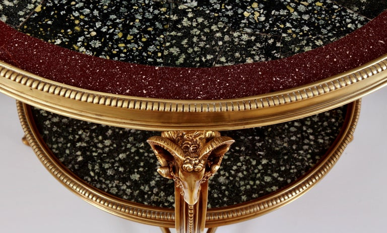 French 19th Century Porphyry Table For Sale