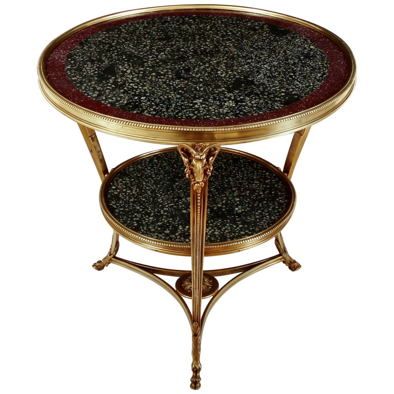 19th Century Porphyry Table For Sale