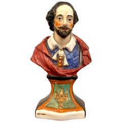 19th Century Portrait Bust of William Shakespeare