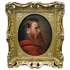 19th Century Portrait of a Bearded French Military Officer