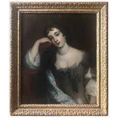19th Century Portrait of a Young Lady from the School of Peter Lely