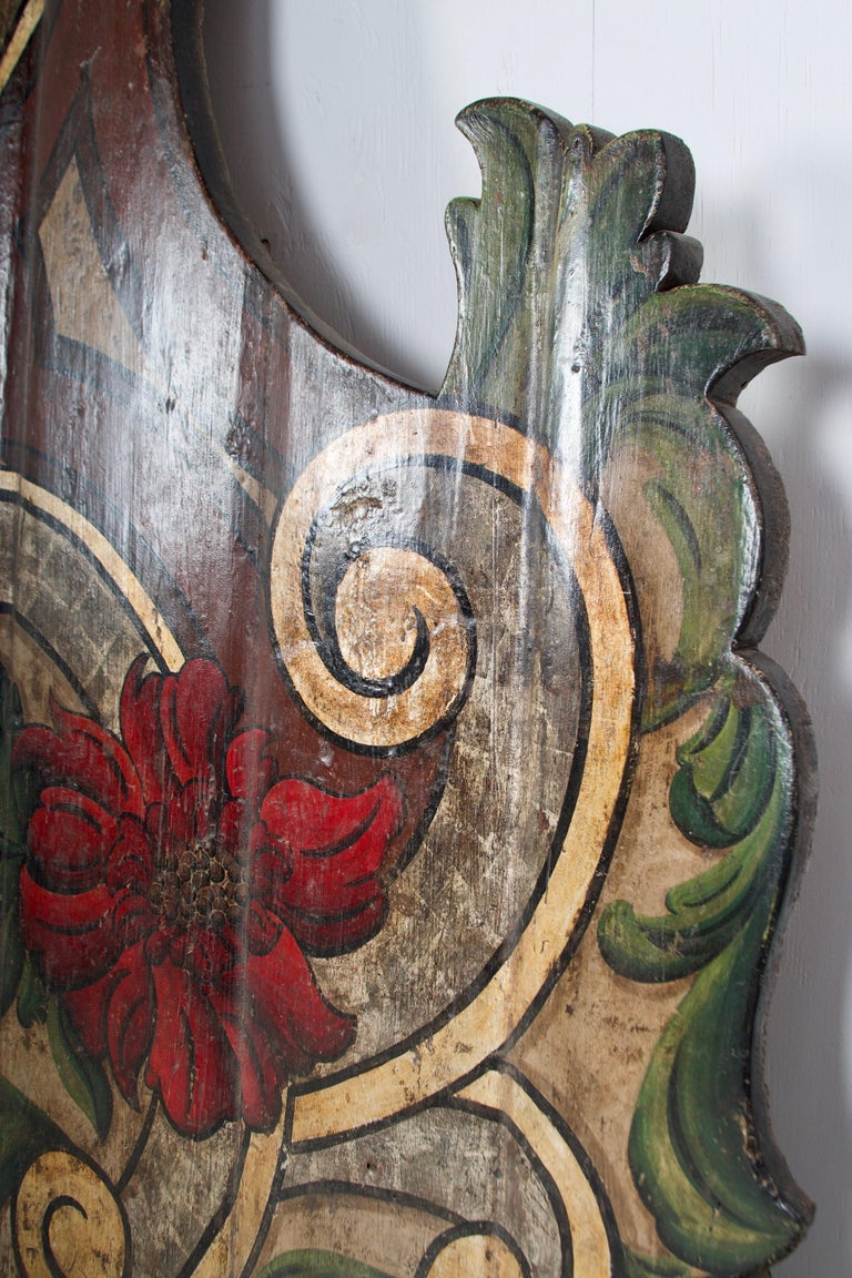 19th Century Portugese Polycromed Headboard,  For Sale 2
