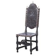 19th Century Portuguese High Back Chair