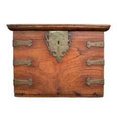 19th Century Portuguese/Spanish Colonial Brass Bound Box, Fitted as Cellarette
