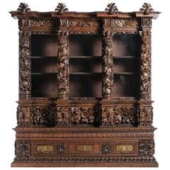 19th Century Portuguese Vetrine Cabinet