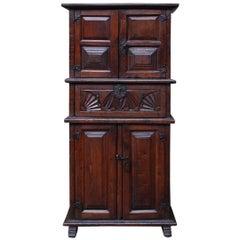 19th Century Primitive Chestnut Wood Cabinet