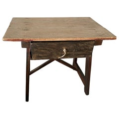 19th Century Rustic Country Work Table