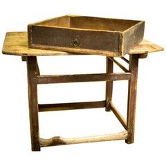19th Century Primitive Folk Art Swedish Cobbler's Table